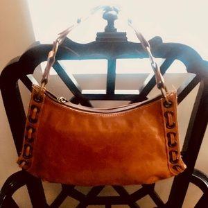Gorgeous Vintage cognac color handbag!!